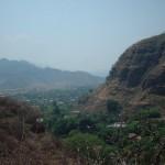 Vista de Malinalco desde el cerro del templo