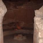 Interior del templo excavado en piedra