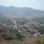 Vista del pueblo desde arriba el cerro del templo