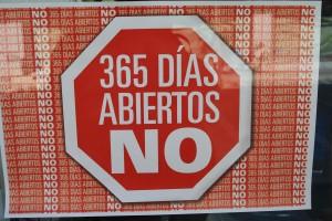 Protesta de comerciantes en Aranjuez