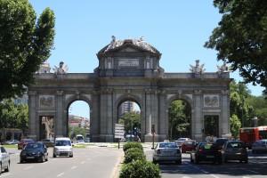 La Puerta de Alcalá, en la Plaza de la Independencia