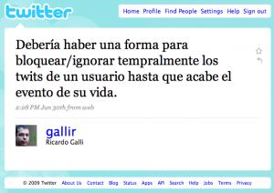El tweet/chispa de Ricardo Galli