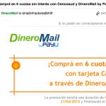 Definición de SPAM para educar a DineroMail: Si una empresa desconocida te manda ofertas, es SPAM.